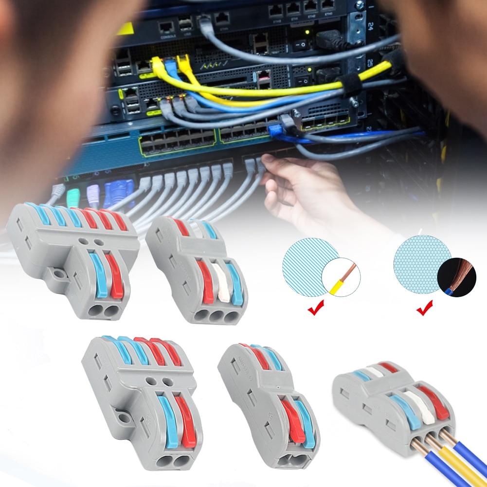 Мини-быстрый провод кабель Разъемы Универсальный Компактный проводник Весна Сращивание разъем проводки пуш-ап-в клеммный блок SPL-2/3