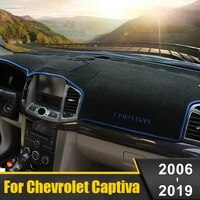 for chevrolet captiva c100 c140 2006 2019 car dashboard cover mat avoid light pad instrument platform desk carpet accessories