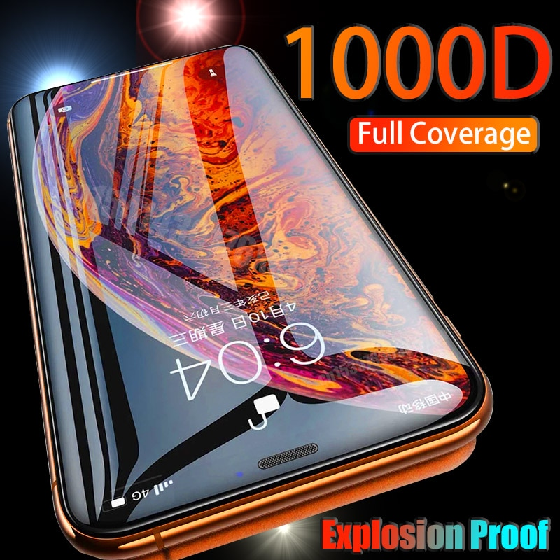 1000D Full Cover Tempered Glass For iPhone 12 Pro Max 11 12Mini Screen Protector On 11Pro Max XR X X