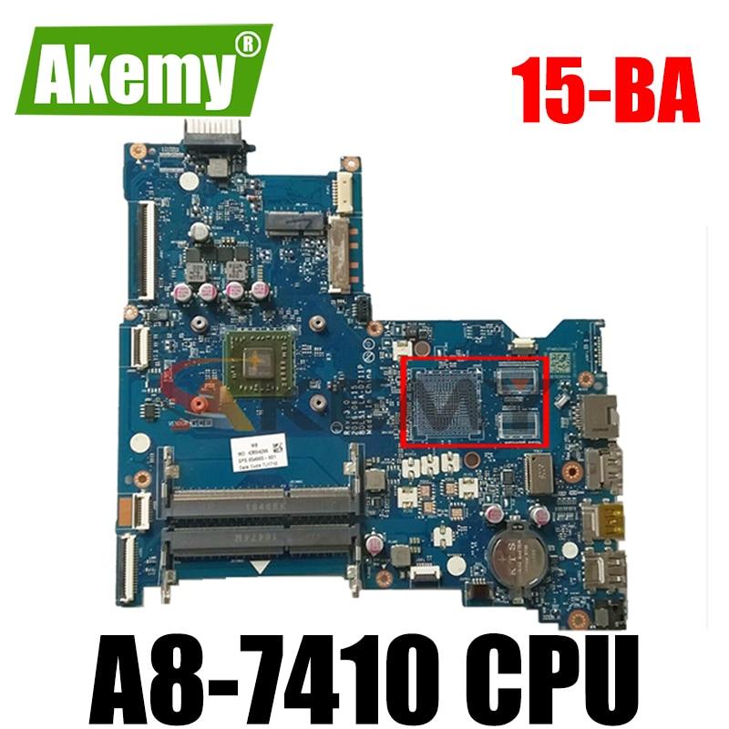 AKemy محمول لوحة رئيسية لأجهزة HP بافيليون 15-BA 15Z-BA A8-7410 AM7410 اللوحة BDL51 LA-D711P 854961-001 854961-601 860337