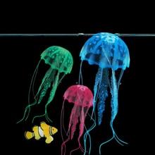 2019 Gloeiende Effect Kunstmatige Jellyfish Fish Tank Aquarium Decor Mini Submarine Ornament
