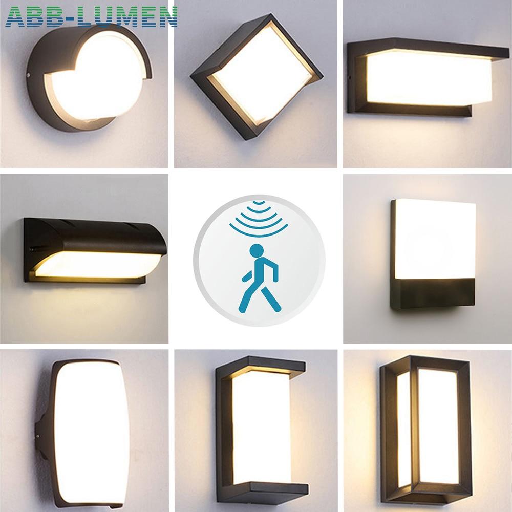 LED outdoor waterproof wall lamp Radar Motion Sensor led outdoor light porch light courtyard garden wall lights outdoor lighting