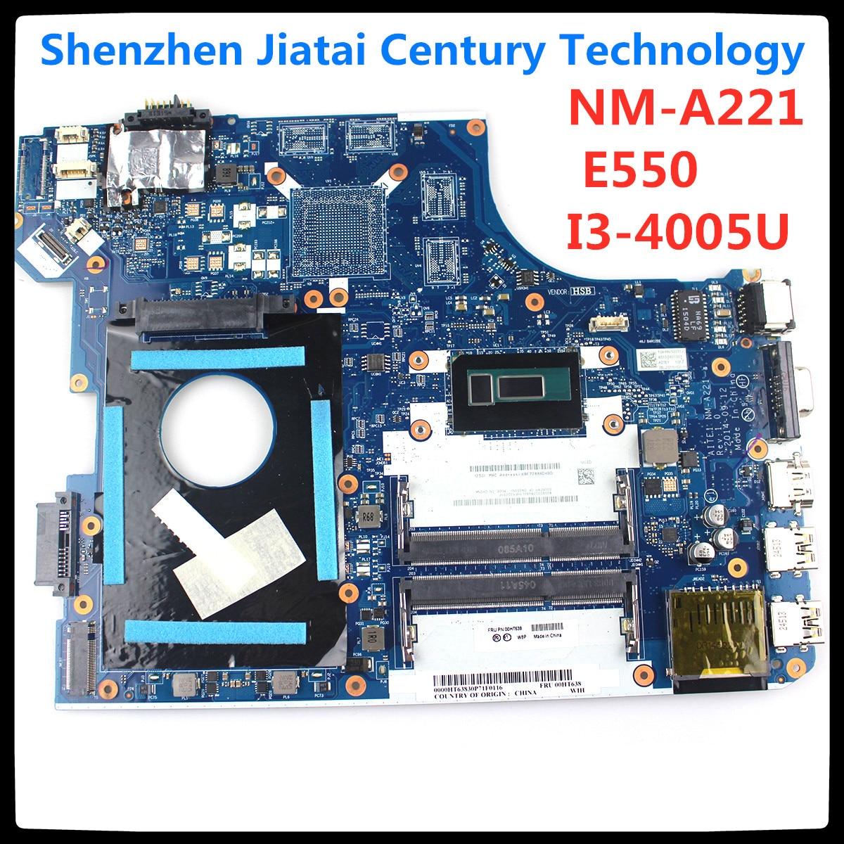 NM-A221 для Lenovo ThinkPad E550 E550C материнская плата для ноутбука FRU 00HT584 CPU i3 4005U DDR3 100% протестированная работа