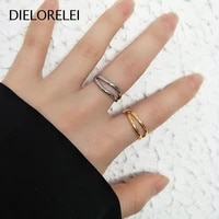 dielorelei 925 sterling silver adjustable ring light luxury prevent allergy women minimalist jewelry niche girls temperament