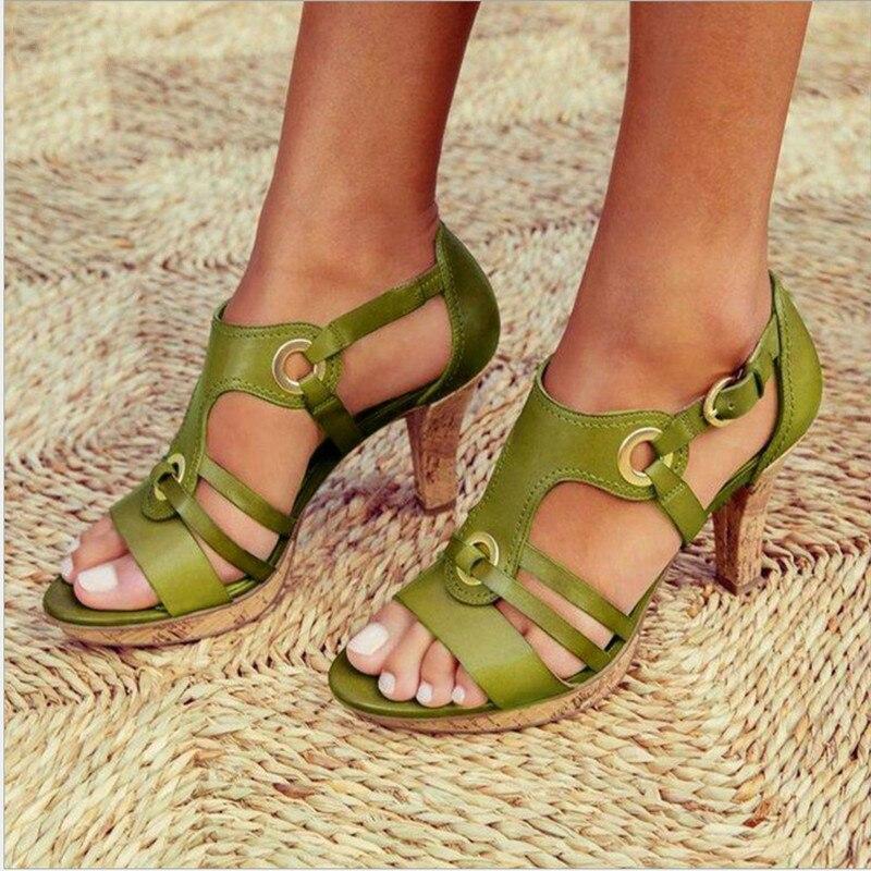 2020 nuevo sandalias de las mujeres de primavera y verano de talla grande gran oferta Sandalias de tacón alto sandalias de las mujeres de lujo zapatos de diseñador para mujer