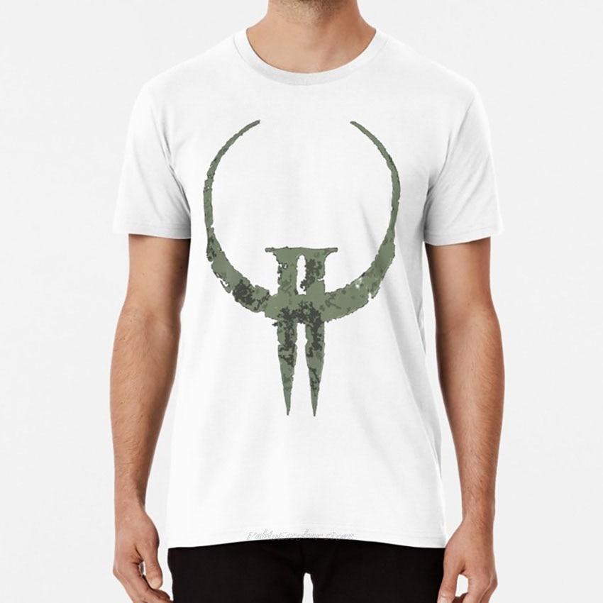 Camiseta Quake II quake 2 ii id software carmack logo fatal1ty shubuzhi, camiseta masculina de algodón, camiseta de moda para hombres 4XL 5XL