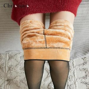 High Waist Bodycon Pantyhose Women Warm Tights Women Skin-Transparent Winter Velvet Stockings2020 New