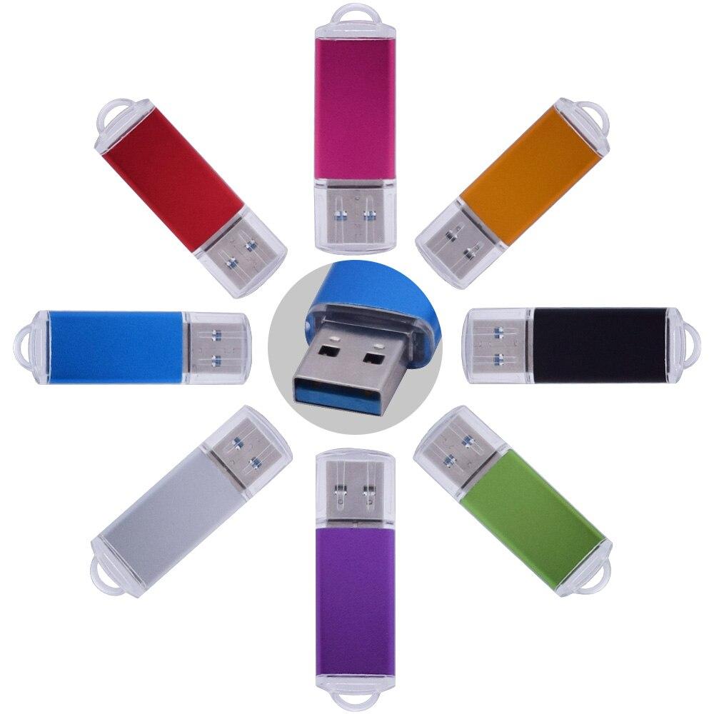 Custom Logo USB 3.0 Colorful Metal Case Dark Flash 8GB 16GB 32GB 64GB 128GB USB Pendrive Free Shipping Pen Drive Gadget