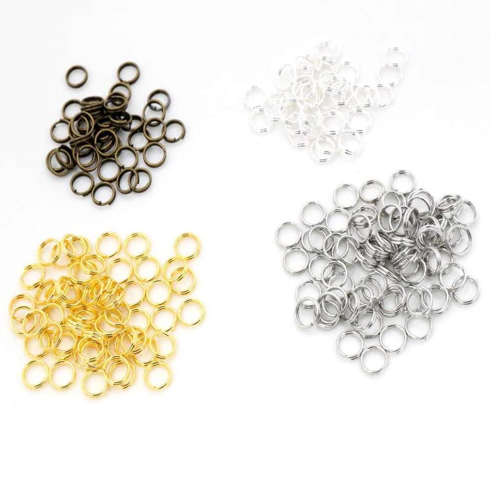 AliExpress - 200pcs/lot 4 6 7 8 10 mm Open Jump Rings Double Loops Gold/Silver Plated Split Rings Connectors For Jewelry Making Supplies DiY