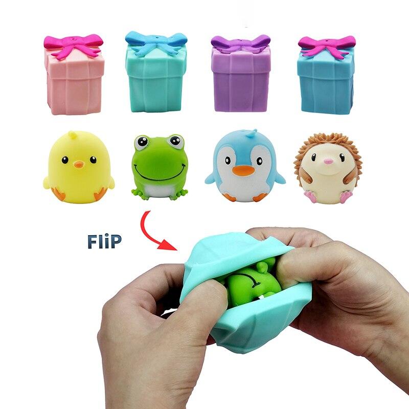Раскладные игрушки-антистресс милые кавайные животные забавные сжимаемые раскладные игрушки для снятия стресса коробка для взрослых и дет...