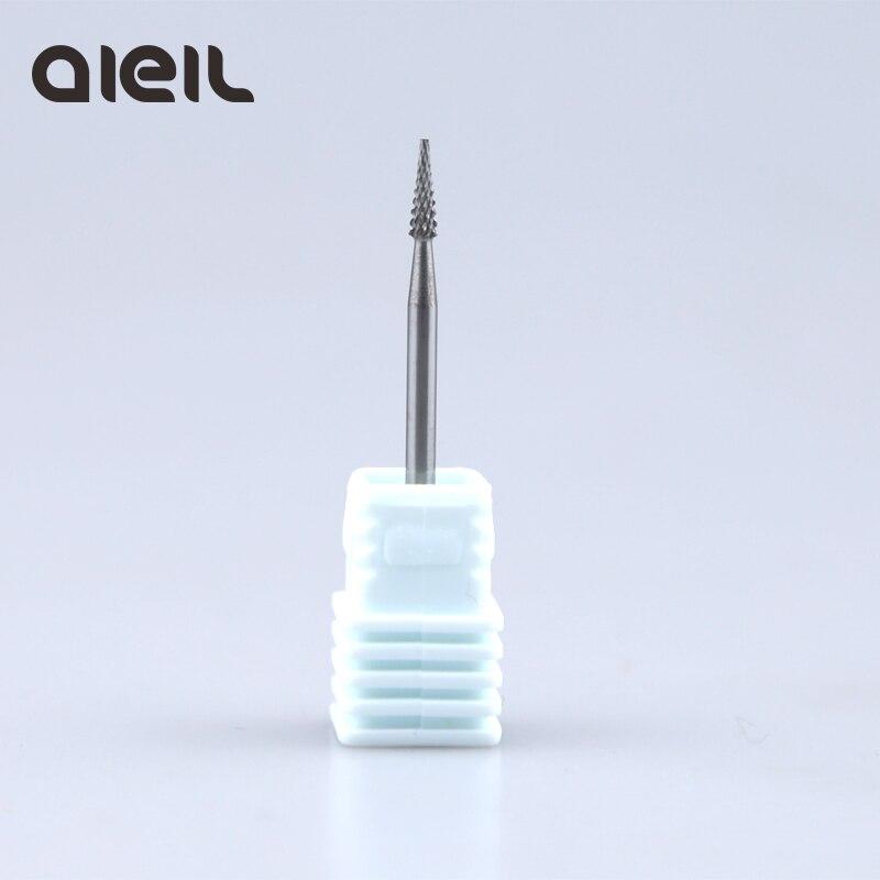 Brocas de carburo de tungsteno para manicura, herramienta artística para uñas