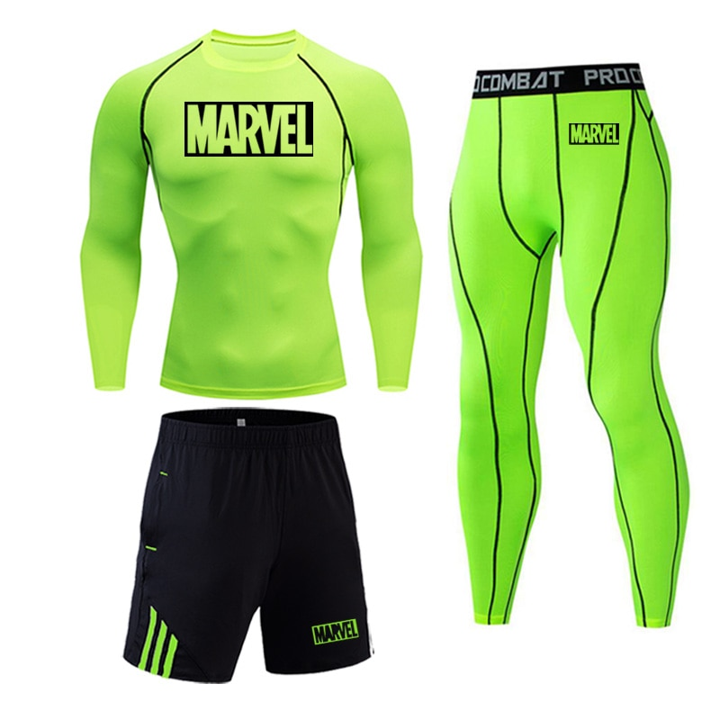 Ropa interior de marca caliente para hombres de invierno de entrenamiento capa Base apretado largo mangas Fitness leggings traje de compresión térmica ropa interior 4XL
