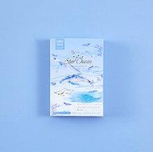52mm x 80mm 푸른 바다 종이 인사말 카드 lomo 카드 (1pack = 28pieces)