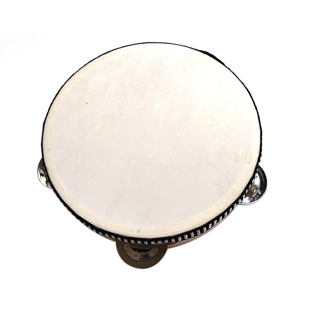 10 pouces tambour Instruments de musique tambourin tambour enfants tambourin éducatif ronde Percussion pour KTV fête danse jouets