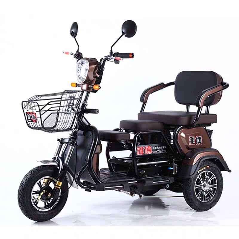 Batería de litio de 800W, 60V, 20Ah, escúter eléctrico con 3 asientos, tres ruedas para patinete deshabilitado para ancianos