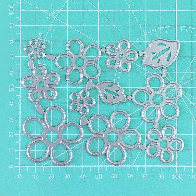 Plantillas de marco de corte de Metal para manualidades de flores y hojas álbum de recortes tarjetas de papel de grabado manualidad álbum de fotos plantillas de matrices