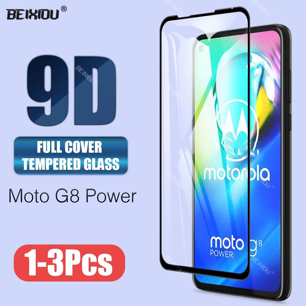Cristal templado 9D para Motorola Moto G8 Power, Protector de pantalla de cobertura completa, cristal templado para Motorola Moto G8 Power Lite
