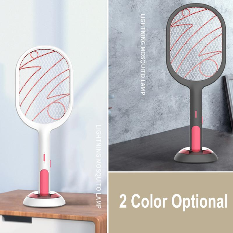 3000V 1200mAh Electric Insect Racket Swatter Zapper USB Rechargeable Mosquito Kill Fly Bug Killer Trap Light