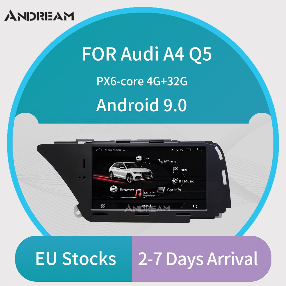 Reproductor Multimedia para coche Android de 7 pulgadas para AUDI A4 (2008-2016 B8) Q5(2010-2016) navegación gps Bluetooth Wifi Envío de Alemania