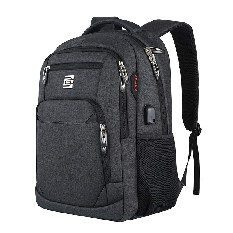 Business Laptop Backpack Travel Anti-Theft With USB Charger Port Waterproof College Bag For Men and