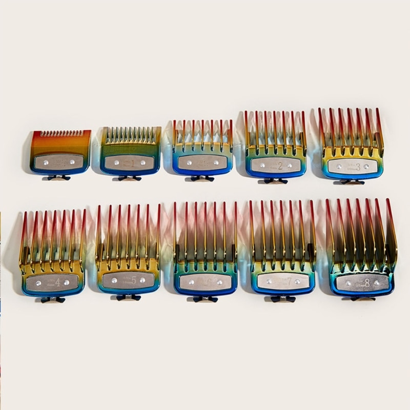 10 Pcs Universal Hair Clipper Limit Comb Guide Attachment Barber Replacement enlarge