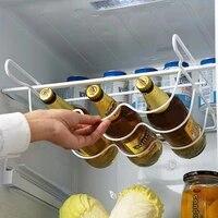 fridge organizer kitchen spacer layer storage beer rack shelf refrigerator bottle rack wine holder basket pantry cabinet tools