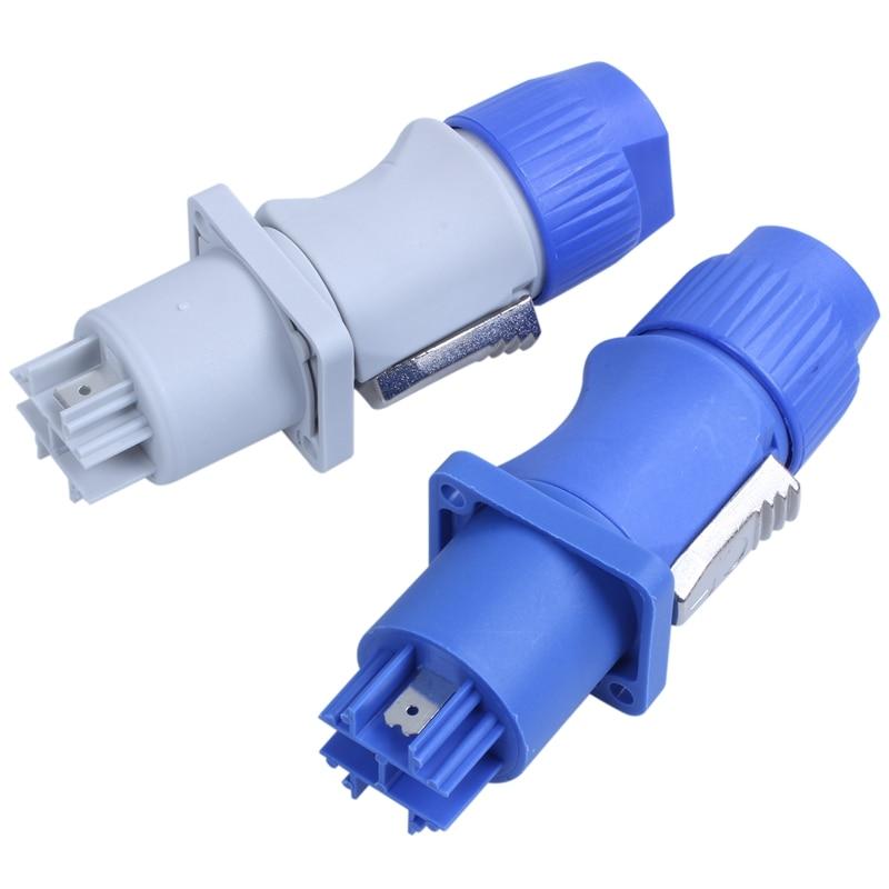 10 set PowerCON Type A NAC3FCA+NAC3MPA-1 Chassis Plug Panel adapter