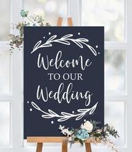 Autocollant vinyle Simple amovible   Étiquette de mariage, bienvenue à notre décor de mariage rustique Simple, sans panneau inclus G860