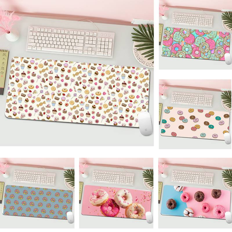 cute donut Gaming Player desk laptop Mouse Mat Gaming Mousepad XL Large Gamer Keyboard PC Desk Mat Computer Tablet Mouse Pad