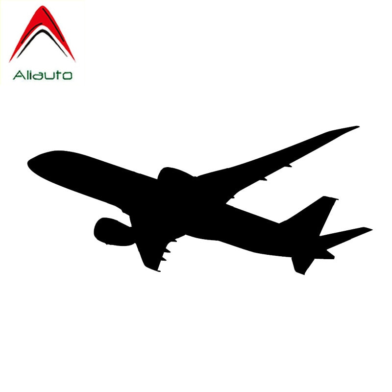 Aliauto Exquisite Turns Turely Cabin Plane Durable Vinyl Car Sticker Waterproof Reflective Personality Decal Pattern,16cm*7cm