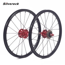 "Silverock 합금 3 속도 바퀴 16 ""1 3/8"" 349 디스크 브레이크 20H 접는 자전거 키즈 균형 자전거 Clincher 자전거 Wheelset"