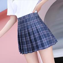 XS-XXL Women Skirt Preppy Style High Waist Chic Stitching Skirts Summer Student Pleated Skirt Women
