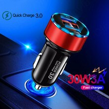4.8A Car Charger Quick Charge 4.0 For Samsung Xiaomi Redmi 10 Universal Fast Charging Adapter LED Di