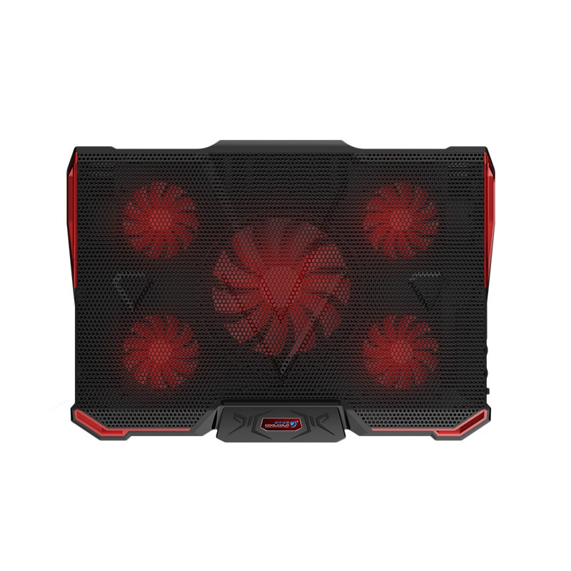 17inch Laptop Cooling Pad Gaming Laptop Cooler 5 Fan Silence 2 USB Port Notebook Stand For Macbook Pro 17.3 Aluminium 14 Holder