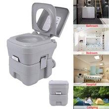 Honhill Portable toilette en plein air Camping charge 130kg adultes enfants Mobile toilette Camping toilette pour maison hôpital voyage bateau 20L