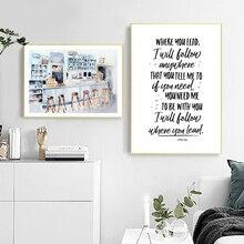 Wall Art Nordic Modular Poster Home Decoration Corridor Omnia Paratus Canvas Painting Gilmore Girls Tv Interior Printed Pictures