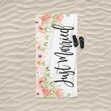 Just Married Beach towel Sunglasses summer hat Wedding bride Wife husband Bride groom Newlywed Coupl