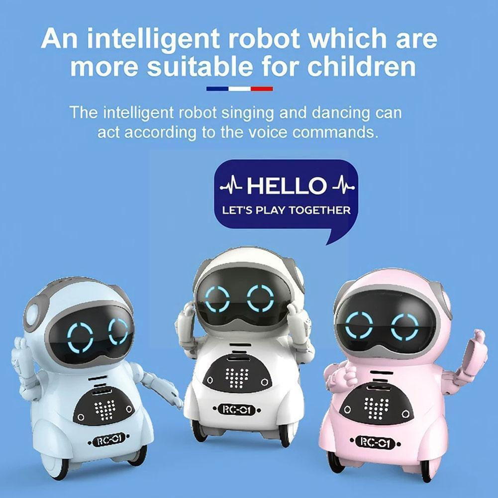 Фото - Smart Pocket Robot Dialogue Interactive Mini Robot Recognition Repeated Dancing Toy And Singing Smart Voice Children's Toy G7X0 smart wifi talking interactive dialogue voice recognition record robot singing dancing telling story mini intelligent robot kids