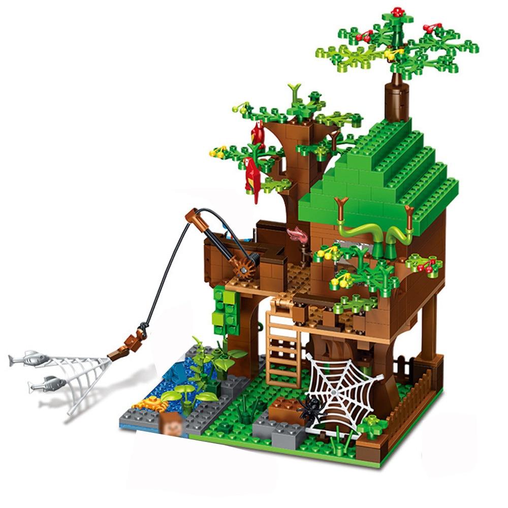 443 pces meu mundo blocos de construcao compativel cidade dragao tijolos brinquedos