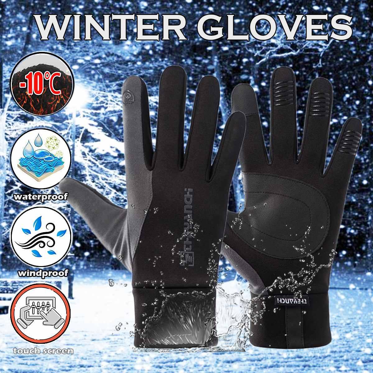 Guantes de ciclismo-10 grado cálido invierno térmico bicicleta MTB guantes Snowboard y...