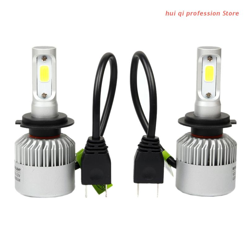 9~30V H7 COB LED Headlight Conversion 80W Car Waterproof White Light Bulbs