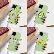 Cartoon Silikon Telefon Fall für iphone 11 Pro XS Max XR 6s 7 8 plus Weiche TPU Lustige Avocado wassermelone Gedruckt Abdeckung Shell Coqua