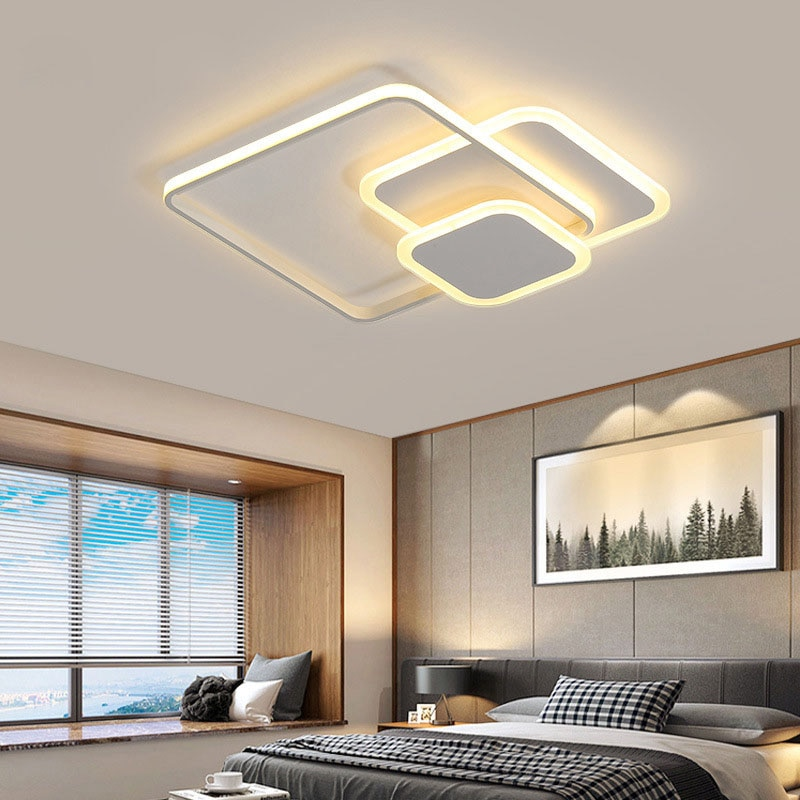 Modern and fashionable LED ceiling lamp bedroom living room study room interior ceiling lamp simple chandelier lighting