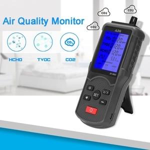 CO2 Meter TVOC HCHO Carbon Dioxide Detector Temperature CO2 Air Quality Analyzer