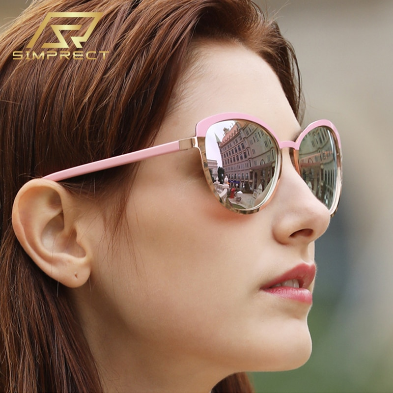 Gafas de sol polarizadas simprept para mujer 2020, gafas de sol anti-azules con luz de ojo de gato, gafas de sol antideslumbrantes para conductor Retro, gafas de sol para mujer