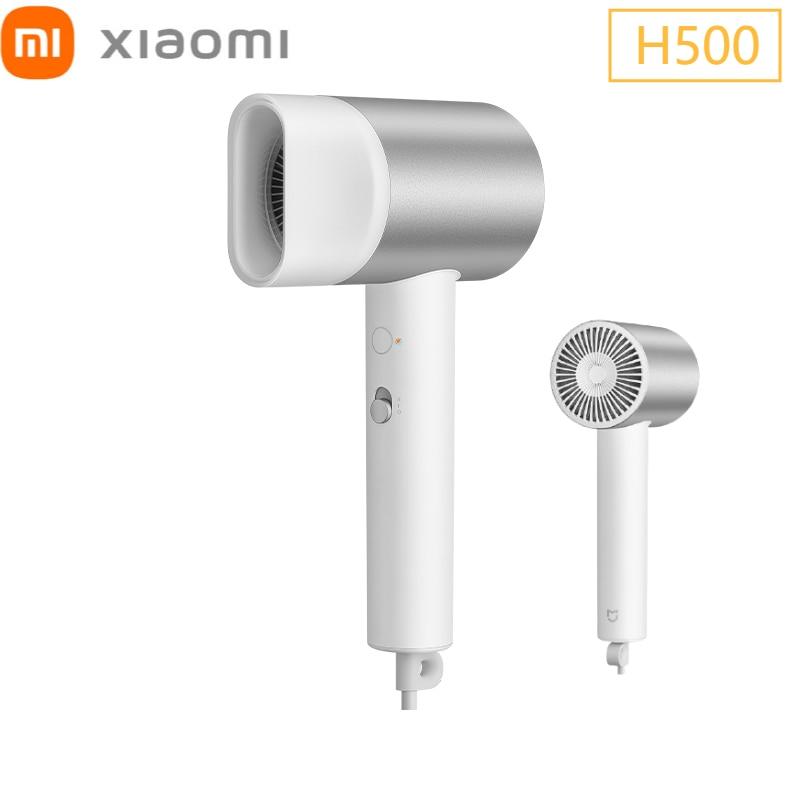Secador de Cabelo Branco com Difusor Xiaomi Mijia Água H500 Portátil Xiomi Casa Cuidados Professinal Cabelo Seco Rápido 2021 mi Íon