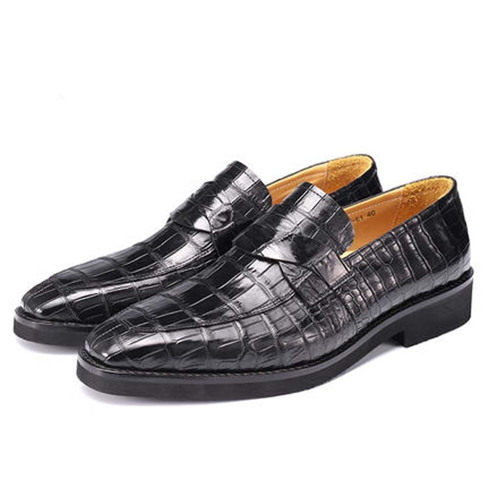 Piliyuan-أحذية جلدية التمساح للرجال ، مجموعة أحذية يدوية جديدة ، أحذية ترفيهية رسمية لرجال الأعمال
