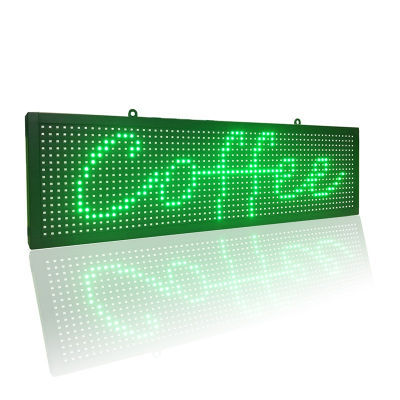 علامة تمرير LED قابلة للبرمجة لنوافذ المتجر ، للاستخدام الداخلي ، مع تطبيق wi-fi و USB تحكم (26 × 8 بوصة ، لون أخضر فقط)