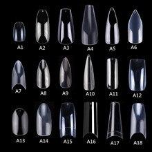 Makartt 500 pièces cercueil faux ongles conseils clair ongles naturels conseils couverture complète faux acrylique ongles ballerine ongles presse sur ongles
