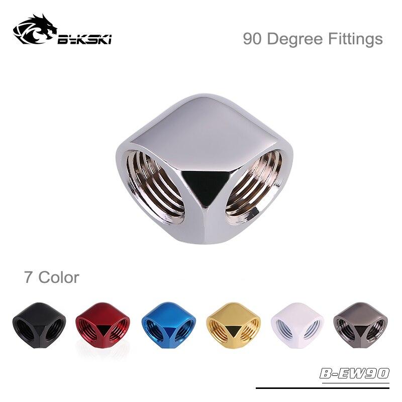 Bykski B-EW90, doble rosca interna accesorios de 90 grados, G1/4 Boutique de varios colores